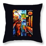 Trapped Inside Blue Rain Throw Pillow
