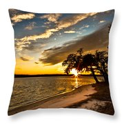 Trapped Sunset Throw Pillow