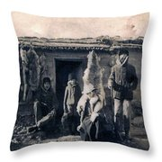 Trappers Throw Pillow