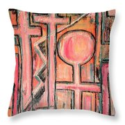 Trappings Of Love Abstract Art Painting  Throw Pillow
