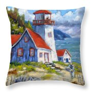 Traps And Lighthouse Throw Pillow