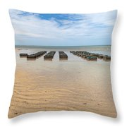 Traps At Low Tide Throw Pillow