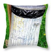 Trash Can Abstract. Throw Pillow