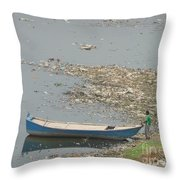Trashy River Throw Pillow