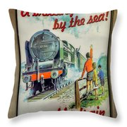 Travel By Train Throw Pillow