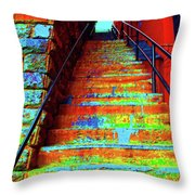 Travel-exorcist Steps Throw Pillow