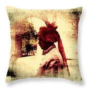 Travel Exotic Headgear Waiter Portrait Mehrangarh Fort India Rajasthan 2a Throw Pillow