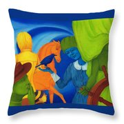 Travel In The Undefined Time. Throw Pillow