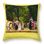 Travel In Time To Renaissance Throw Pillow