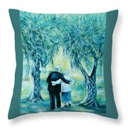 Travel Notebook.olive Groves Throw Pillow