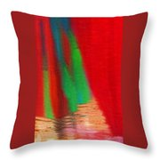 Travel Shopping Colorful Scarves Abstract Series India Rajasthan 1a Throw Pillow