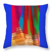 Travel Shopping Colorful Scarves Abstract Series India Rajasthan 1b Throw Pillow