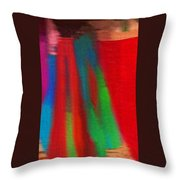 Travel Shopping Colorful Scarves Abstract Series India Rajasthan 1g Throw Pillow