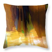 Travel Shopping Colorful Scarves Abstract Series India Rajasthan 1j Throw Pillow