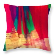 Travel Shopping Colorful Scarves Abstract Series Square India Rajasthan 1h Throw Pillow