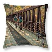 Travel The Buttermilk Trail Throw Pillow