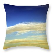 Travel Through Clouds Throw Pillow