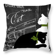 Travel With Your Cat Throw Pillow