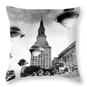 Travelers Insurance Tower Throw Pillow