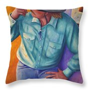 Travelin Man Throw Pillow