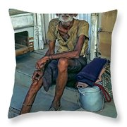 Travelin' Man Throw Pillow