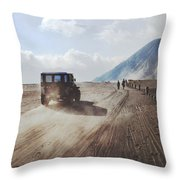 Traveling And Exploring Indonesian Volcanoes Throw Pillow