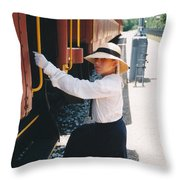 Traveling By Train Throw Pillow