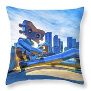 Traveling Man Chilin Throw Pillow