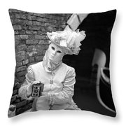 Traveling Mask Throw Pillow