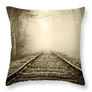 Traveling On The Tracks Antique Throw Pillow