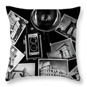 Traveling The World Throw Pillow