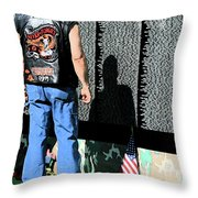 Traveling Wall Throw Pillow
