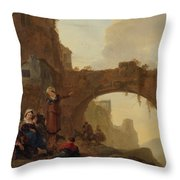 Travellers At Rest Throw Pillow