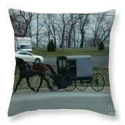 Travelling Into Town Throw Pillow