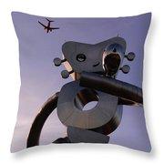 Travelling Man Throw Pillow