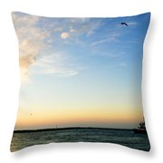 Travels At Sunset Throw Pillow
