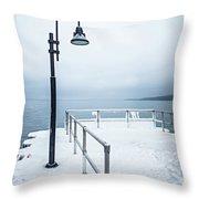 Traverse City Michigan Scenery Around On Lake Michigan Throw Pillow