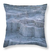 Mammoth Hot Springs Travertine Terraces Two Throw Pillow