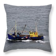 Trawling Off The Dingle Peninsula In Ireland Throw Pillow