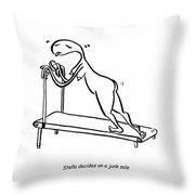 Treadmill Throw Pillow