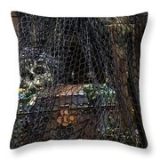 Treasure Chest In Net Throw Pillow