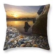Treasure Cove Throw Pillow by Debra and Dave Vanderlaan