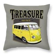 Treasure Hunt Bus Throw Pillow