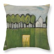 Treasure In The Yard Throw Pillow