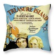 Treasure Island 1934 Throw Pillow