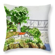 Treasure Island - California Sketchbook Project  Throw Pillow