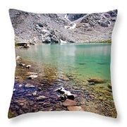 Treasure Lake 3 Rocky Shoreline Throw Pillow