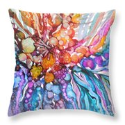 Treasures From Rainbow Reef Throw Pillow