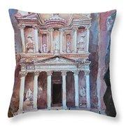 Treasury Building Petra Jordan Throw Pillow