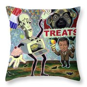 Treats Throw Pillow